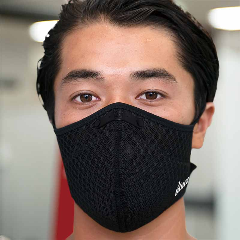 blueeq(ブルイク)ATHLETE FACE MASK NOSE CLIPPED