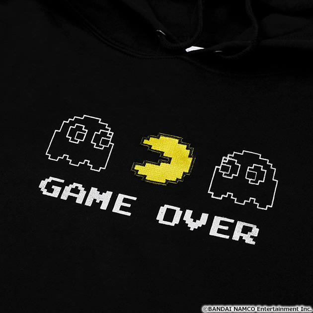 VIDEO GAME TOKYO パックマン GAMEOVER刺繍付きパーカー