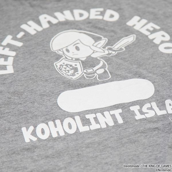 THE KING OF GAMES ゼルダの伝説 夢をみる島 LEFT HANDED HERO2 ロングスリーブTシャツ