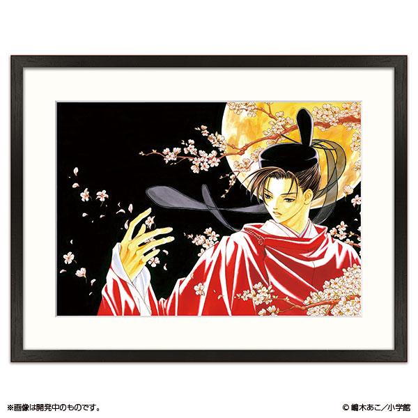 嶋木あこ20周年記念 サイン入り複製原画「月下の君」(原寸大A3サイズ)
