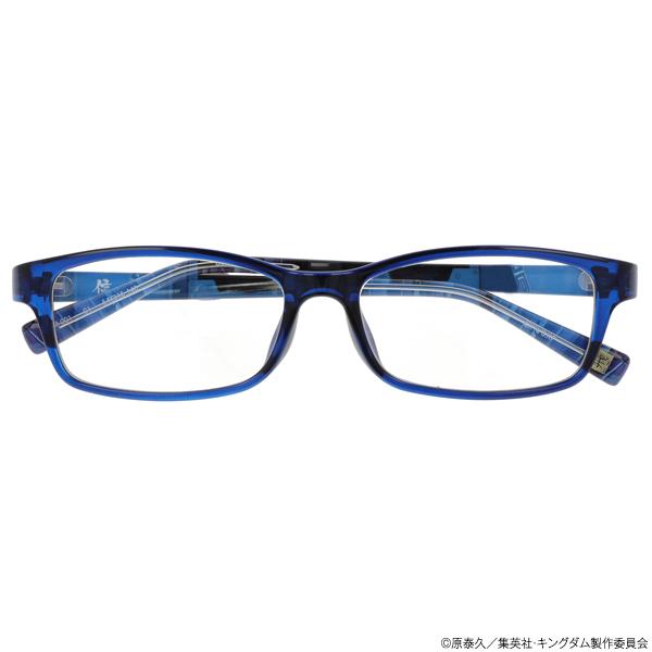 キングダム ブルーライトカットメガネ「信」モデル クリアネイビー