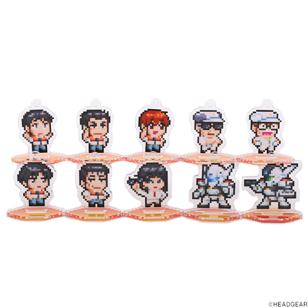 ゆうきまさみ展 機動警察パトレイバー ゲームソフトPKG ミニアクリルスタンド(コンプリートセット)