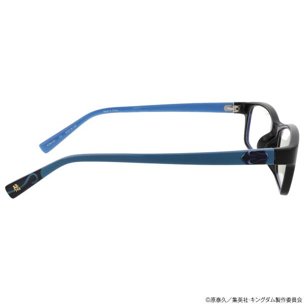 キングダム ブルーライトカットメガネ「信」モデル ブラック
