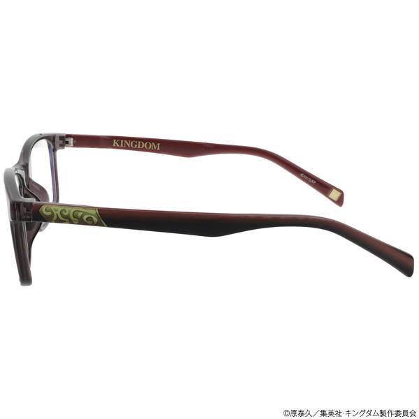 キングダム ブルーライトカットメガネ「王騎」モデル クリアグレー