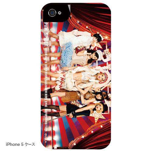 ピンク スパイダー iPhoneケース A 5人娘(写真プリントタイプ)