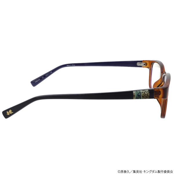 キングダム ブルーライトカットメガネ「李牧」モデル クリアライトブラウン