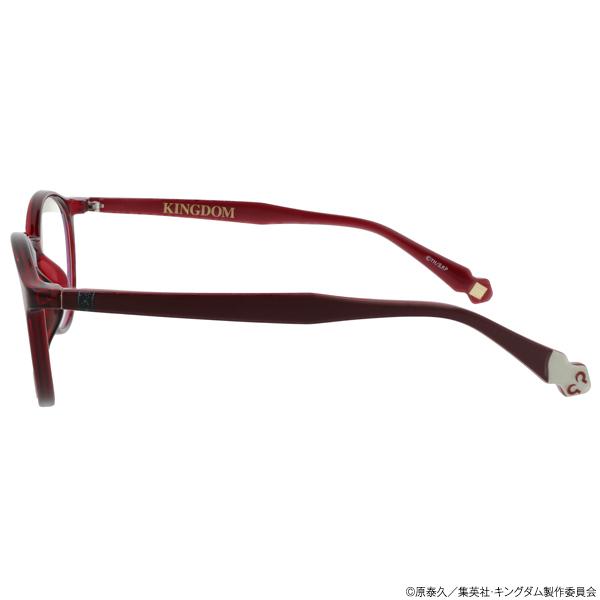 キングダム ブルーライトカットメガネ「羌カイ」モデル クリアレッド