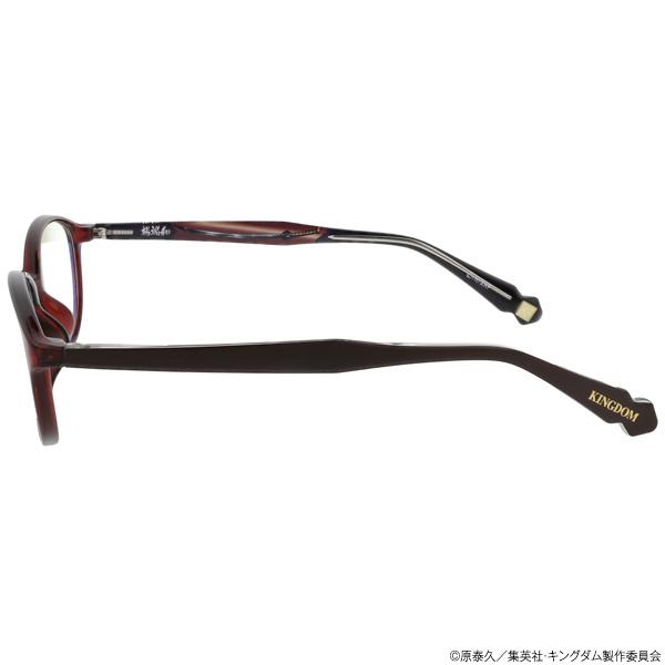 キングダム ブルーライトカットメガネ「楊端和」モデル クリアブラウン