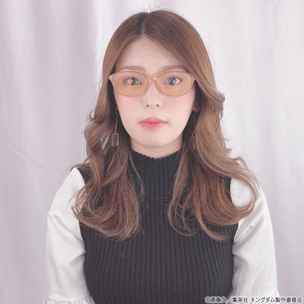 キングダム ブルーライトカットメガネ「楊端和」モデル クリアベージュ