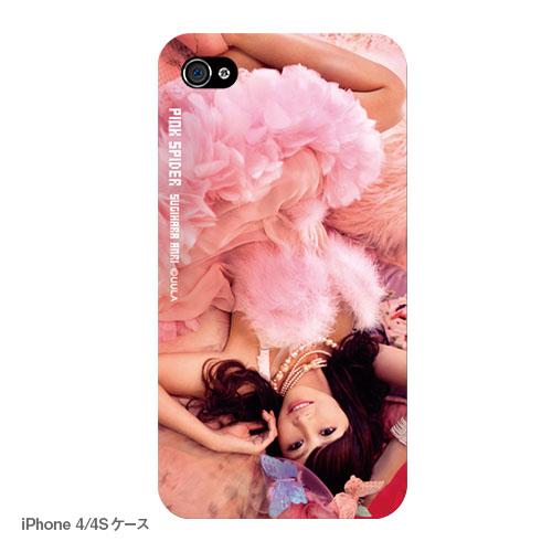 ピンク スパイダー iPhoneケース D ダリア(写真プリントタイプ)