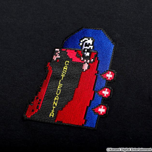 VIDEO GAME TOKYO 悪魔城ドラキュラ 刺繍ワッペンTシャツ ドラキュラ