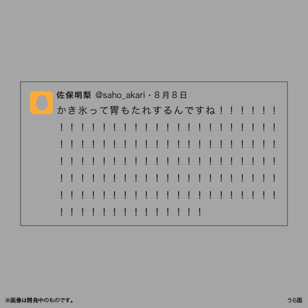 佐保明梨×宇川直宏 100EXCLAMATIONS!Tシャツ NO.054(限定1着)