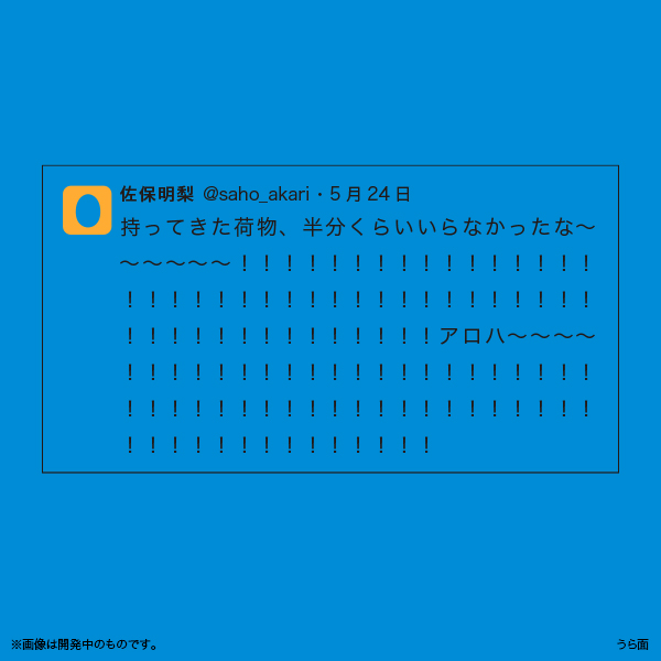 佐保明梨×宇川直宏 100EXCLAMATIONS!Tシャツ NO.086(限定1着)