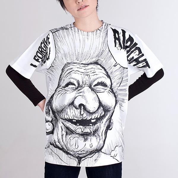 漫F画太郎「罪と罰」 ババア Tシャツ