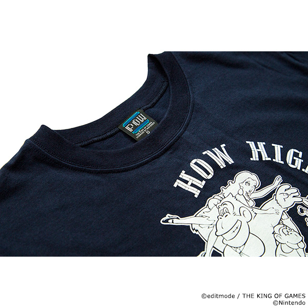 THE KING OF GAMES ドンキーコング(GB) HOW HIGH CAN YOU GO?Tシャツ