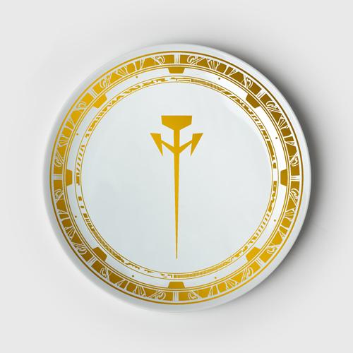 ファイブスター物語 ミラージュ騎士団ロゴ皿/L.E.D.ミラージュ皿 2枚セット