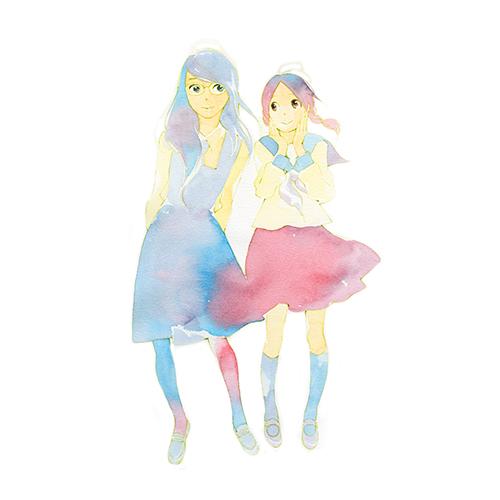青い花 最終巻表紙イラスト複製原画「青い花 8 cover illustration」
