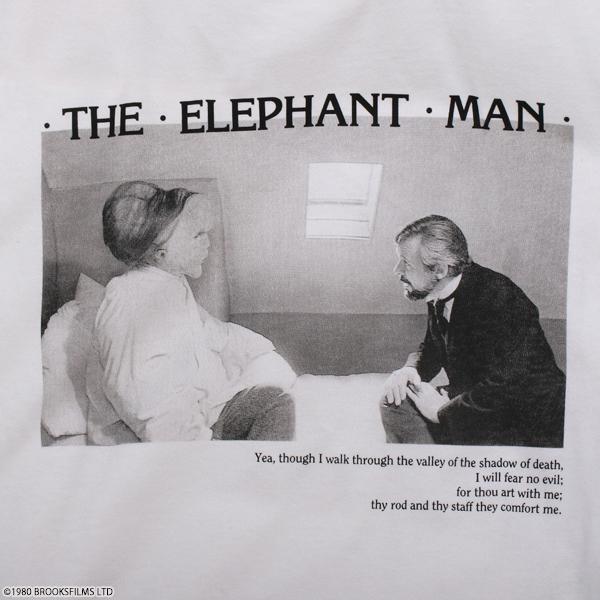エレファント・マン ロングTシャツ ホワイト