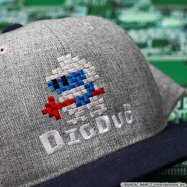 VIDEO GAME TOKYO ディグダグ 刺繍キャップ グレー×ネイビー