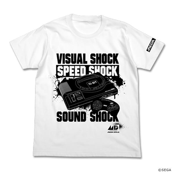 メガドライブ 3SHOCK Tシャツ WHITE