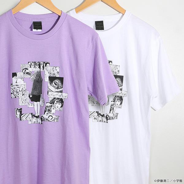 伊藤潤二「うずまき」Tシャツ 五島桐絵