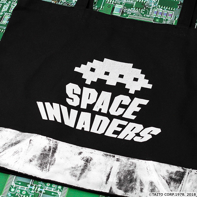 VIDEO GAME TOKYO スペースインベーダー UFOシリーズ 箔押しトートバッグ