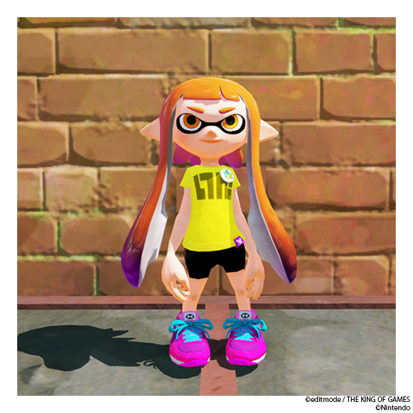THE KING OF GAMES スプラトゥーン イカロゴTシャツ