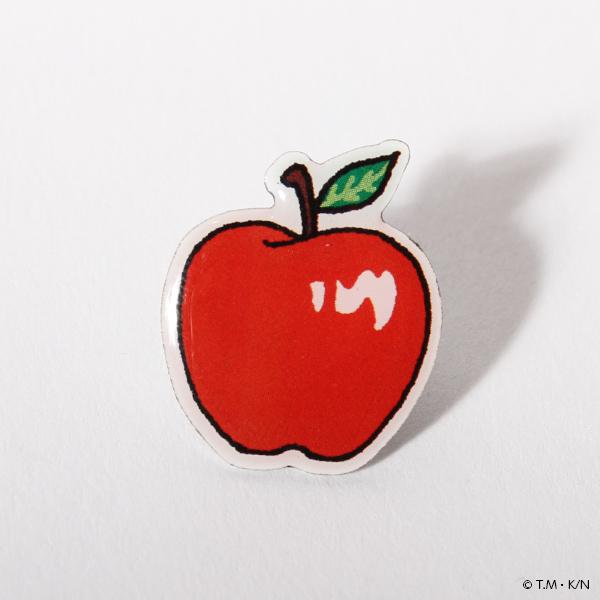 夜は短し歩けよ乙女 黒髪の乙女とリンゴのピンズセット