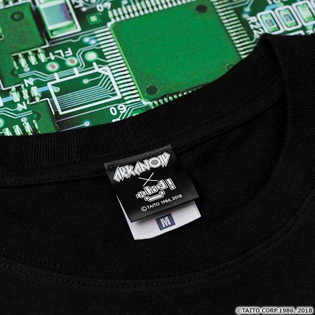 VIDEO GAME TOKYO アルカノイド フルカラーTシャツ ブラック