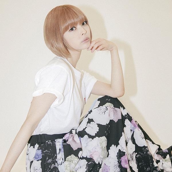 YOUTH LOGO CLUB×最上もが コラボフラワー柄スカート