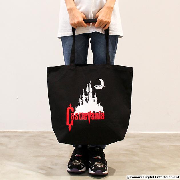 VIDEO GAME TOKYO 悪魔城ドラキュラ Castlevaniaシリーズ トートバッグ ブラック