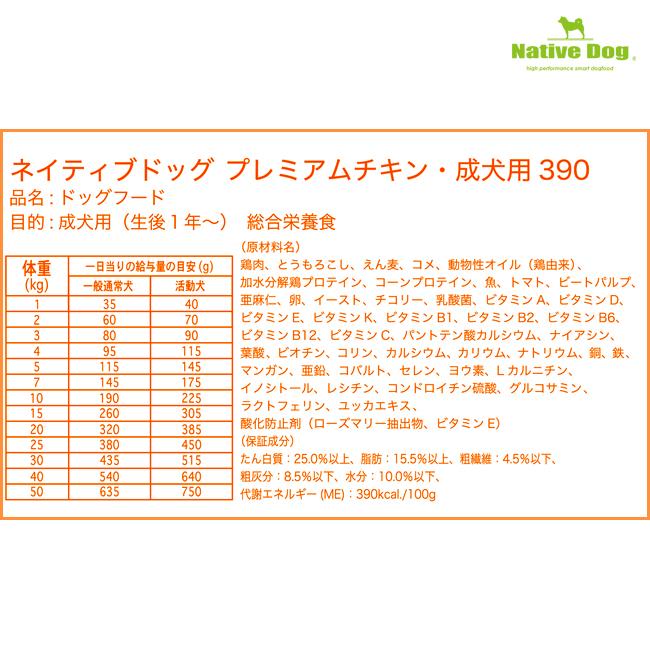 ネイティブドッグ プレミアムチキン 成犬用 6kg(3kg×2) 送料無料/一部地域は送料別