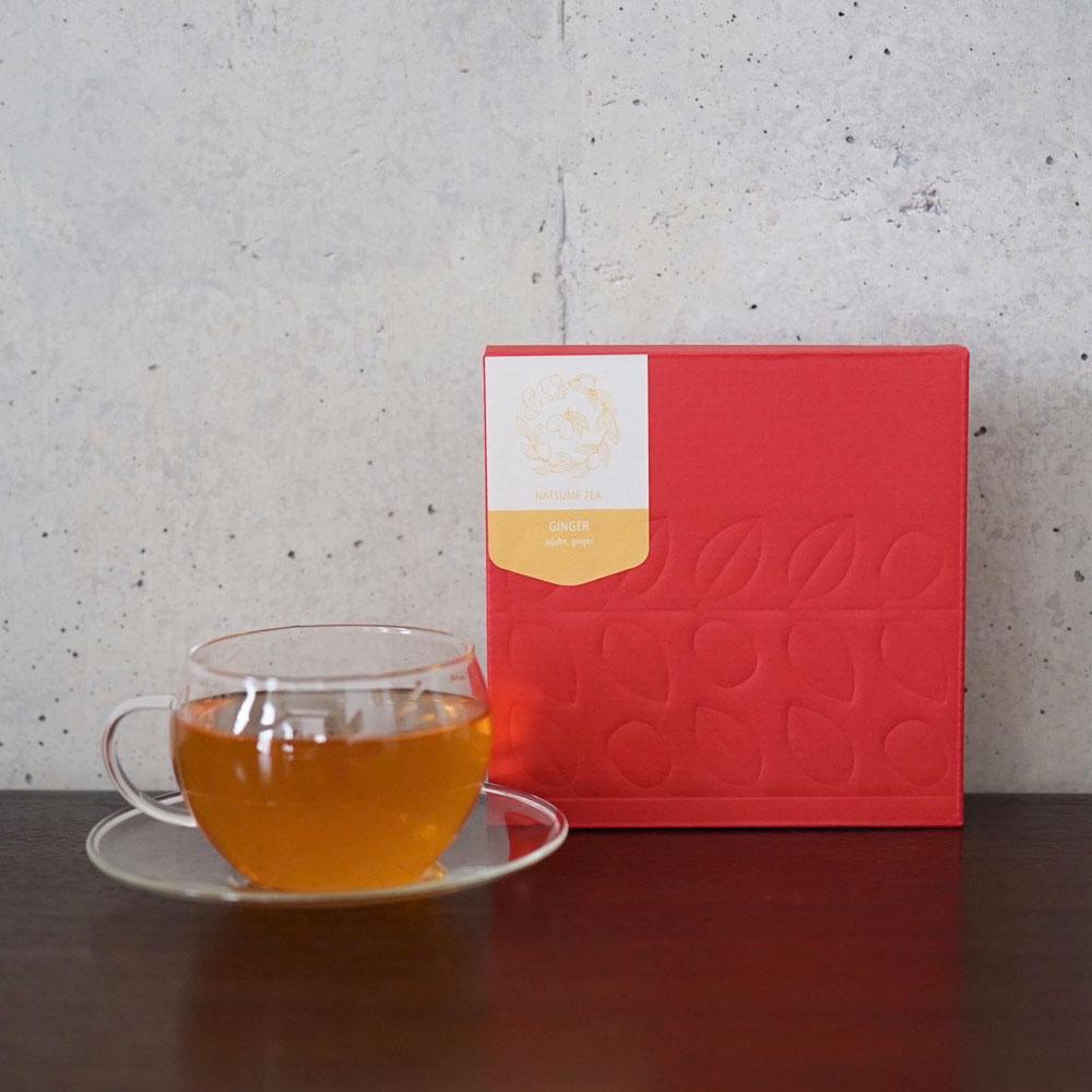 なつめのお茶「GINGER」(ジンジャー/生姜)10パック入り 国産なつめと生姜