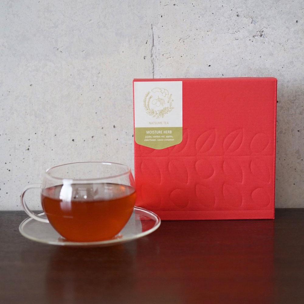 なつめのお茶 「モイスチャ-ハ-ブ」10個入り (なつめ・カシアシナモン・リンゴ・エルダーフラワー・ルイボスレッド)