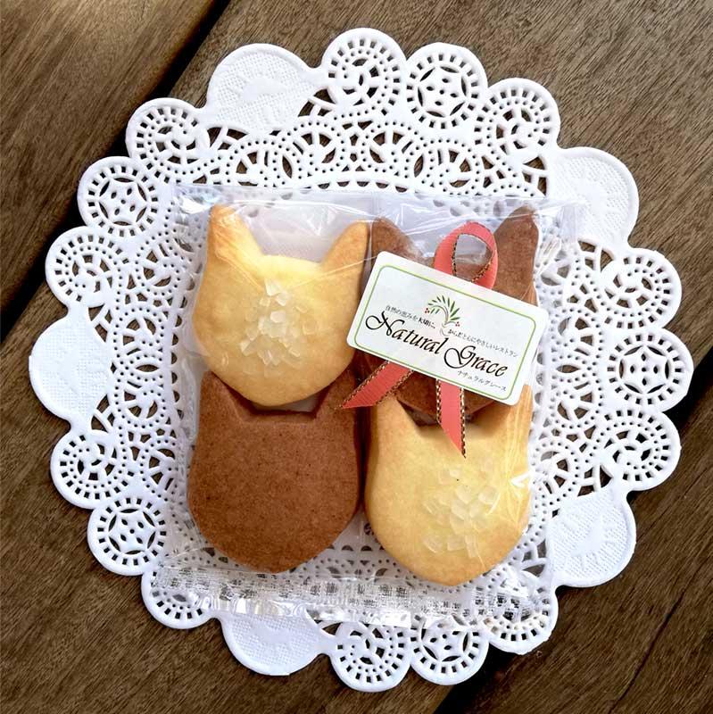 ネコ型クッキー 4枚