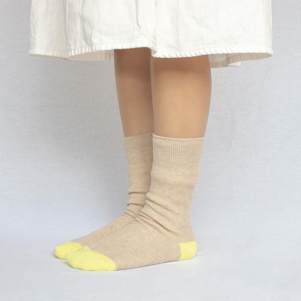 シルクコットン二重編みソックス(23-25cm)
