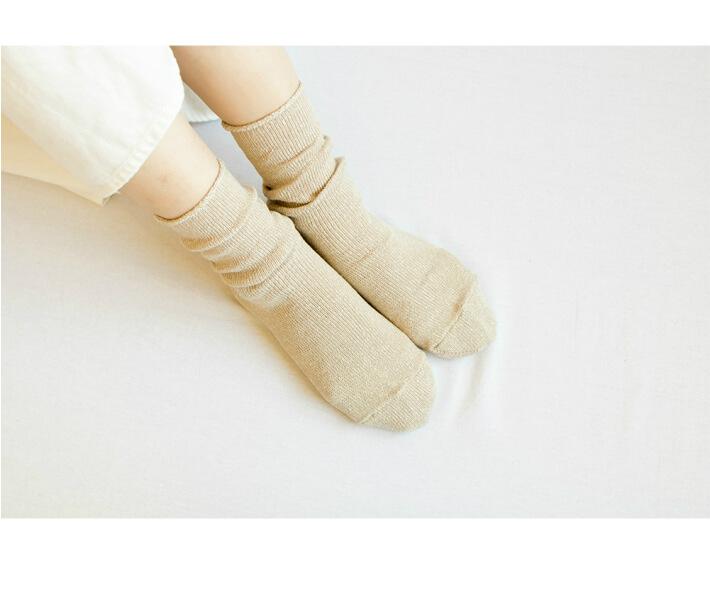 リネン シルク ソックス 23〜25cm 全4色 natural sunny