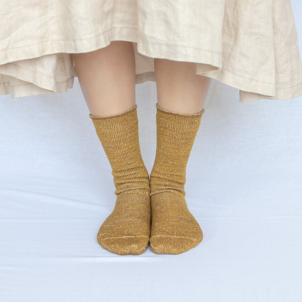 シルク ウール ソックス レディース 23-25cm 全4色 かかと付き 冷えとり靴下 カバーソックス natural sunny