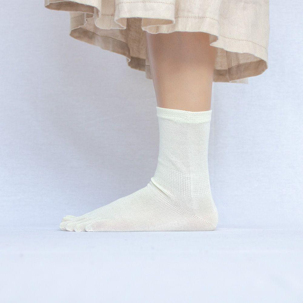 シルクウール五本指ソックス&シルクウール二重編みソックス(2足セット/23-25cm)