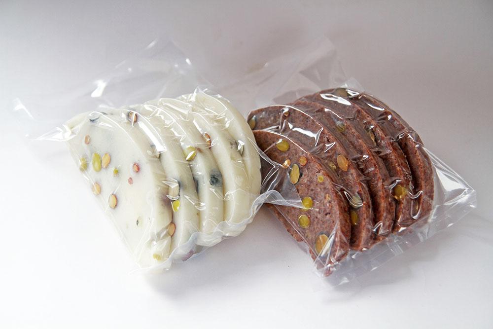 自然栽培の豆餅「赤豆もち & 白豆もち」赤青黒3色大豆入り (岡山県産)