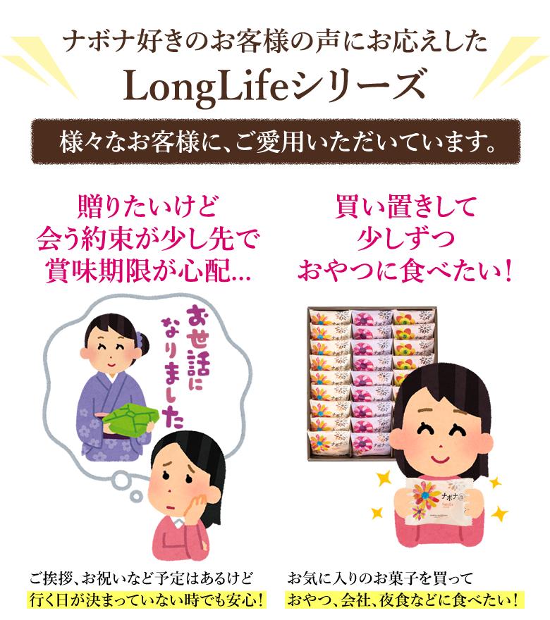 【 お一人様5箱限定! 】 読売ジャイアンツナボナ ロングライフ Long・Life バニラ 5個入
