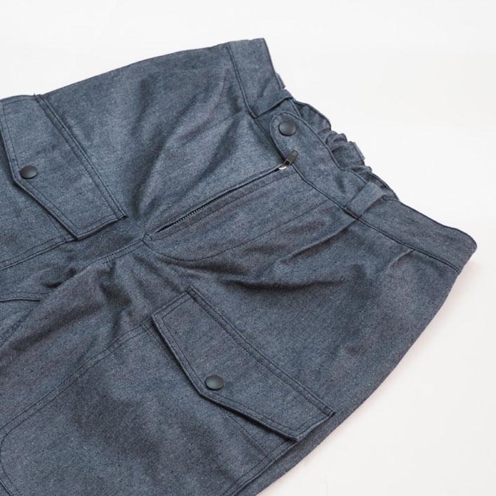 "BLUEBLUE(ブルー ブルー) ""シャンブレー パイロットパンツ""[PA1907]-MEN"
