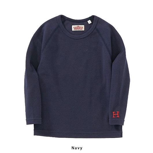 """【再入荷】HOLLYWOOD RANCH MARKET(ハリウッド ランチ マーケット)""""KIDS ストレッチフライス クルーネックロングスリーブ Tシャツ""""[CL1637]-KIDS"""