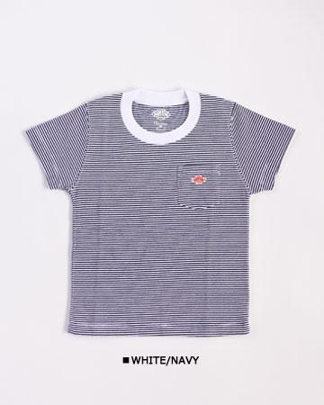 """DANTON(ダントン) """"14/-空紡天竺 ポケットTシャツ """"[JD-9087] -KIDS"""