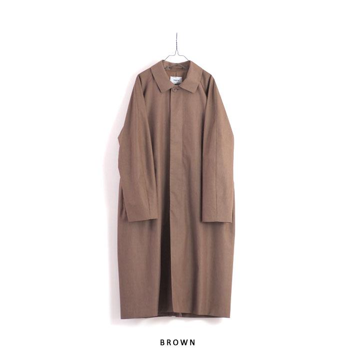 "YAECA(ヤエカ) ""ステンカラーコート ロング-BROWN-"" [10555 BRW] -MEN"