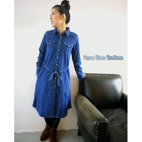 orslow(オアスロウ)≪別注≫LONG DENIM WESTERN SHIRTS[80-8210NBSP]-ladies