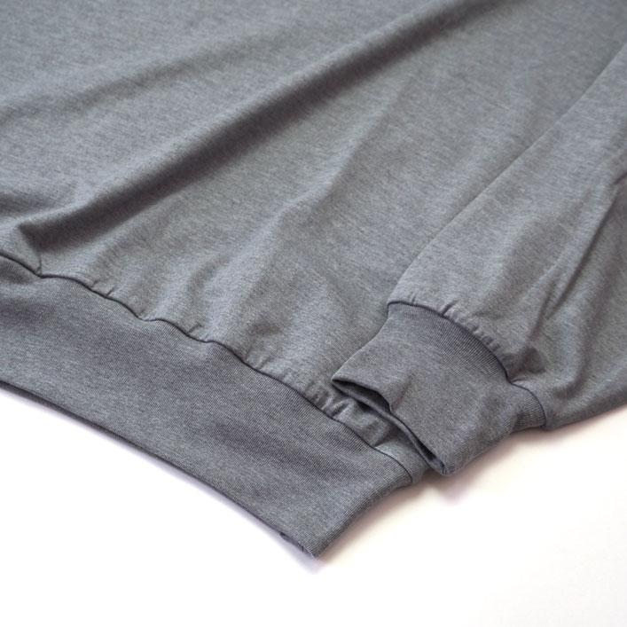 "blurhms(ブラームス) ""Silk Cotton 20/80 Crew-neck Big L/S"" [ROOTS2107F21] -UNISEX"