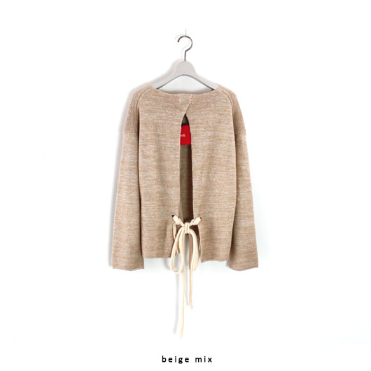 "Unfil(アンフィル)""french linen honeycomb-knit sweater""[ONSP-UW121] -WOMEN"