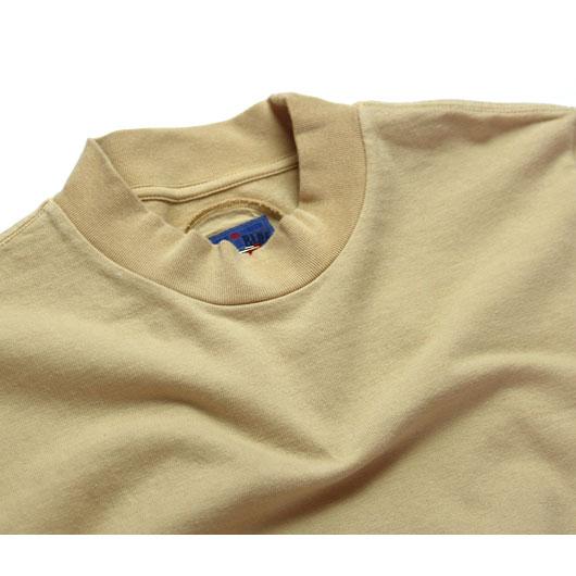 "BLUEBLUEJAPAN(ブルーブルージャパン) ""ファームテンジク モックネック Tシャツ"" [J6338] -MEN"