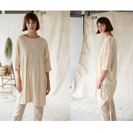 "Unfil(アンフィル)""recycle cotton jersey 5XL sized Tee""[WZSP-UW143] -WOMEN"
